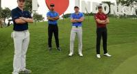 L-R Justin Rose, Shubhankar Sharma, Danny Masrin, Henrik Stenson