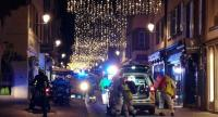 Rescuers walk in the streets of Strasbourg, eastern France, after a shooting breakout, on December 11, 2018./AFP