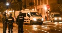 Police stand in the streets of Strasbourg, eastern France, after a shooting breakout, on December 11, 2018./AFP