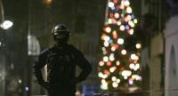 A policeman patrols in the rue des Grandes Arcades in Strasbourg, eastern France, after a shooting breakout, on December 11.//AFP