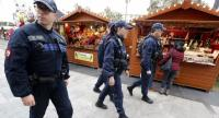 French municipal police officers patrol a Christmas market in Nice, France, 13 December 2018. // EPA-EFE PHOTO