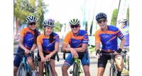 "Bangkok Bank CycleFest ambassadors Wanicha ""Mint"" Kanchanaapirak, Aroonnapa ""Varnvarn"" Panichjaroon, Andy Schleck and Nut Devahastin Na Ayudhya kept spirits high throughout the late-November event."