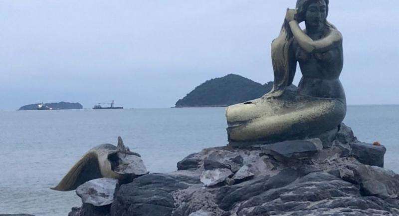 File photo : Statue of mermaid at Samila Beach in Songkhla province.