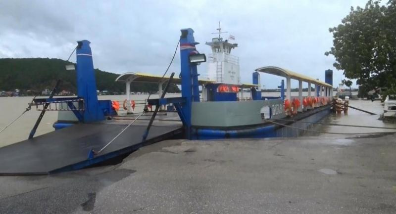 File photo : Songkhla's main ferry on Friday