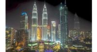 A magnificent night-view of the Petronas Twin Towers in Kuala Lumpur, one of the top three most booked cities in Asia, according to travel booking portal Agoda.