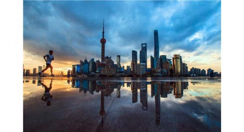 The Bund, Shanghai's most-famous tourist destination, overlooks the Huangpu River and the Lujiazui skyline.