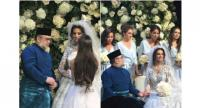 Photos that were said to be of the couple's wedding went viral on social media, with reports naming Sultan Muhammad's love interest as Ms Oksana Voevodina, winner of the Miss Moscow 2015 title.//PHOTOS: FACEBOOK/EZZAT TAHIR