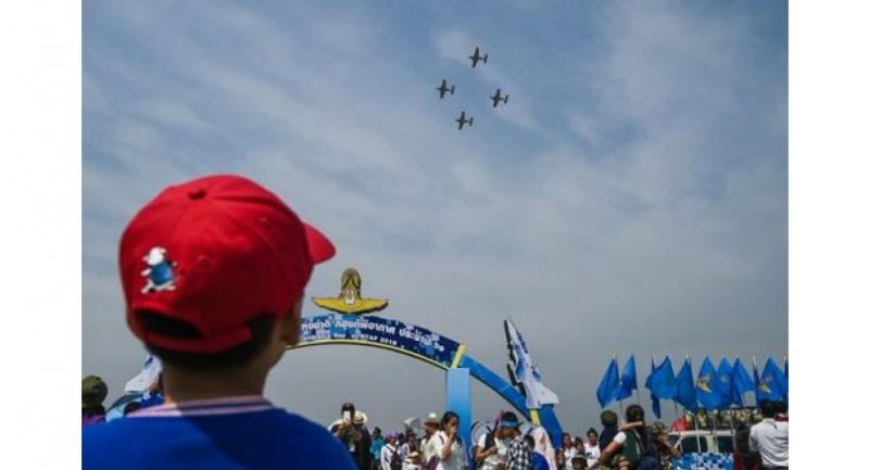 Children will be thrilled by the air shows at Royal Thai Air Force's Wing 6 Don Mueang on Children's Day.