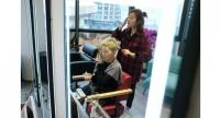 Chinese model Ma Yinhong has her hair done in Shanghai.