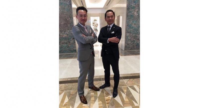 Tomoyasu Yamabe, left, MD of Shinwa Real Estate (Thailand), and executive director Wichai Chula-Olarnkun.
