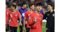 South Korea's forward Heung-min Son reacts after winning the 2019 AFC Asian Cup group C football match between South Korea and China.