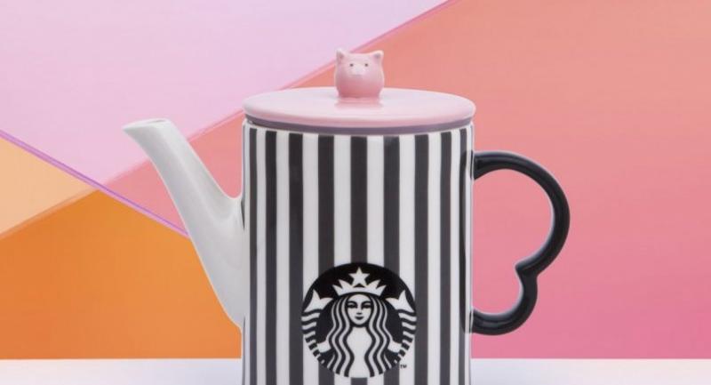 Ceramic Pig Striped teapot, Bt1,700
