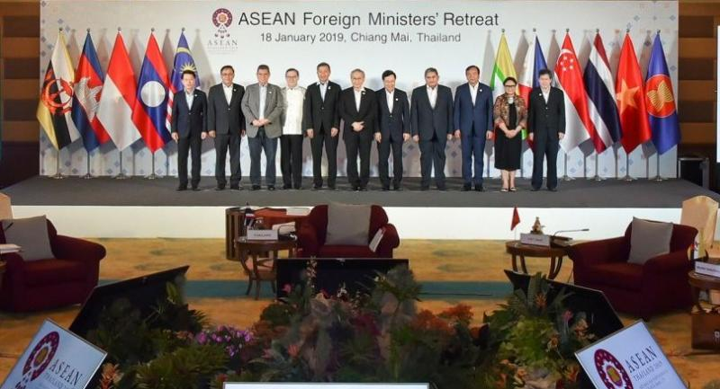 Asean foreign ministers met in Chiang Mai on Friday, and the topic of resolving the Rohingya crisis in Myanmar was on top of the agenda. Photo courtesy of Asean Foreign Ministers' Retreat