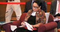 Indonesian Foreign Minister Retno Marsudi at the retreat meeting in Chiang Mai on Friday
