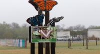 The entrance to the National Butterfly Center on Jan. 15, 2019, in Mission, Texas.//AFP