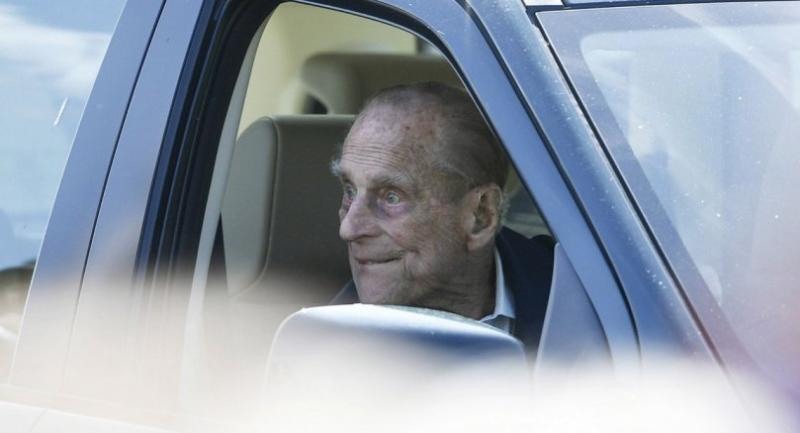(FILE) - Britain's Prince Philip, the Duke of Edinburgh sits in a car. // EPA-EFE PHOTO