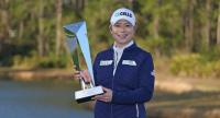 Ji Eun-hee poses with her trophy. (LPGA Photo)