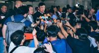 Interim coach Sirisak Yodyardthai gives an interview with Thai media.