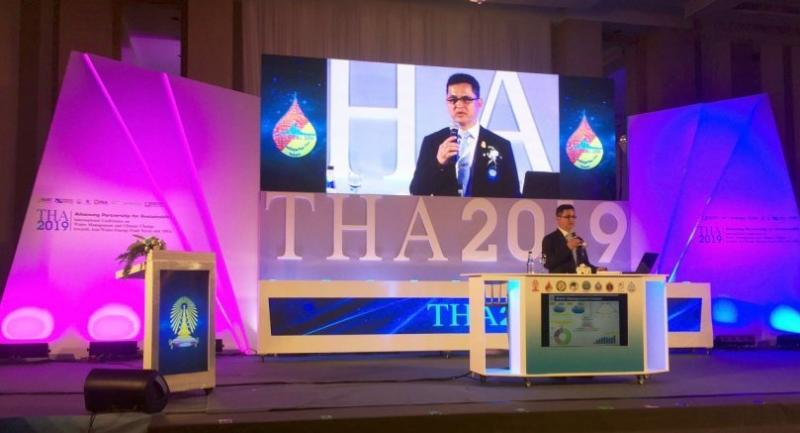 Somkiat Prachamwong, secretary-general of the Office of National Water Resources, tells the THA2019 conference in Bangkok yesterday.