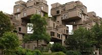 Habitat 67 in Montreal, Canada, designed by Moshe Safdie for the 1967 World's Fair, is still in residential use.