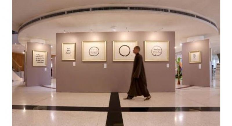 Thich Nhat Hanh's calligraphy is now on display in Bangkok.