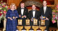 The winners of this year's Prince Mahidol Awards, from left, Dr Mary-Claire King, Dr Brian J Druker, Dr John D Clemens and Dr Jan R Holmgren.