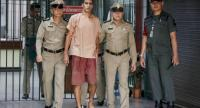 File photo : Bahraini soccer player with Australian refugee status Hakeem Al-Araibi (C) walks while escorted by Thai prison officers following an extradition hearing at the Criminal Court in Bangkok, Thailand, 04 February 2019. EPA-EFE