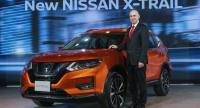 Nissan Motor Thailand president Antoine Barthes and the updated X-Trail.