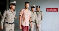 Bahraini soccer player with Australian refugee status Hakeem Al-Araibi (C) walks while escorted by Thai prison officers following an extradition hearing at the Criminal Court in Bangkok, 04 February 2019. // EPA-EFE PHOTO