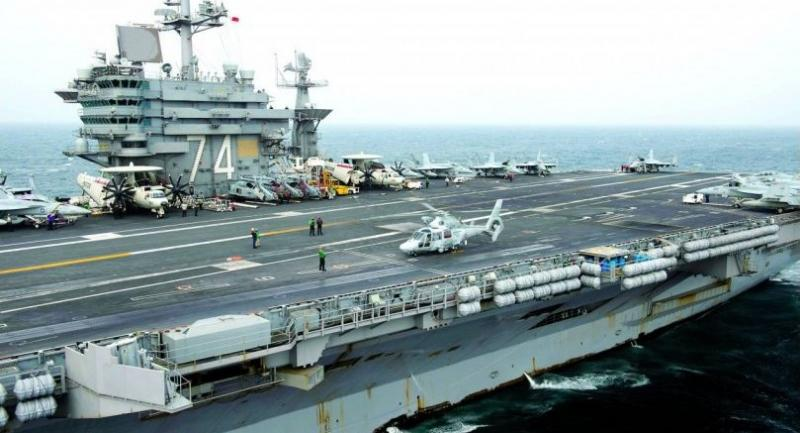 A file picture of the USS John C Stennis, which has been docked at Laem Chabang port since Tuesday as part of the annual Cobra Gold military exercise held in Thailand.