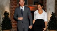 Britain's Prince Harry, Duke of Sussex, and Britain's Meghan, Duchess of Sussex arrive to attend the annual Endeavour Fund Awards at Draper's Hall in London on February 7.//AFP