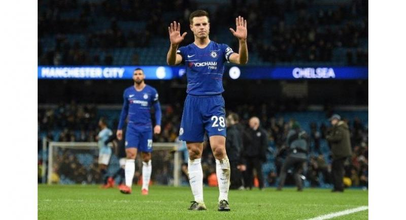 Chelsea's Spanish defender Cesar Azpilicueta / AFP