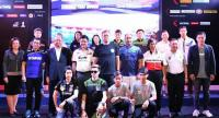 Local riders with organisers and sponsors of next month's  FIM World Superbike Championship.