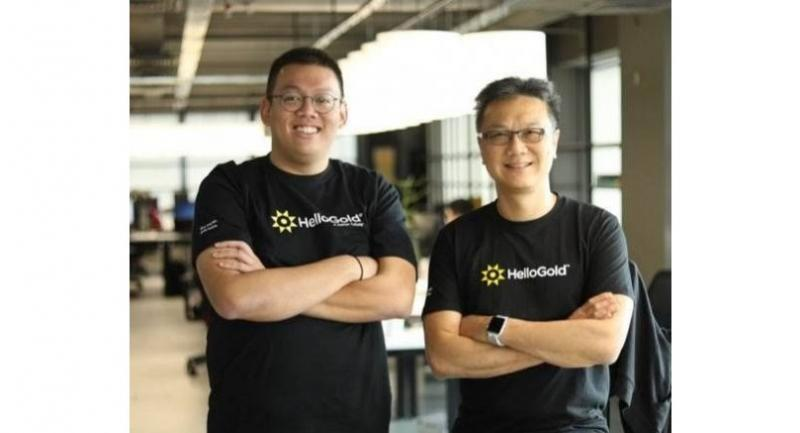 HelloGold Co-Founders Robin Lee, right, and Ridwan Abdullah developed the world's first syariah compliant gold digital application.