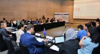 Delegates from all ten Asean nations discuss a regional trademark system at the ARISE  IPR meeting in Bangkok on Monday.