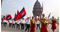 File photo : Cambodians celebrate Meak Bochea in Phnom Penh last year. //Heng Chivoan
