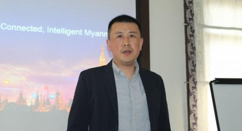 Zhu Bo, deputy managing director of Huawei Myanmar