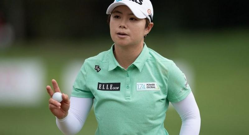 All on her own: nobody could touch Ji Eun-Hee  on the first day of the Honda LPGA Thailand.