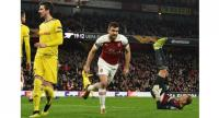 Arsenal's Greek defender Sokratis Papastathopoulos / AFP