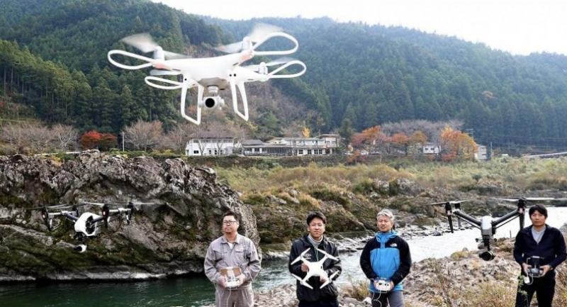 Surrounded by forests, Naka appears to drone enthusiasts who admire the views transmitted to their display screens./Japan NewsYomiuri