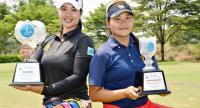 Supamas Sangchan and amateur winner Phannarai Meesom-us pose with their trophies.