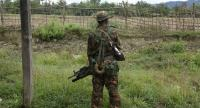 File photo: An armed soldier stands guard in Maungdaw, Rakhine State, western Myanmar. // EPA-EFE PHOTO