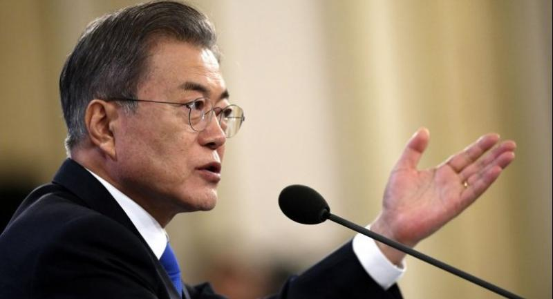 File photo : South Korean President Moon Jae-in