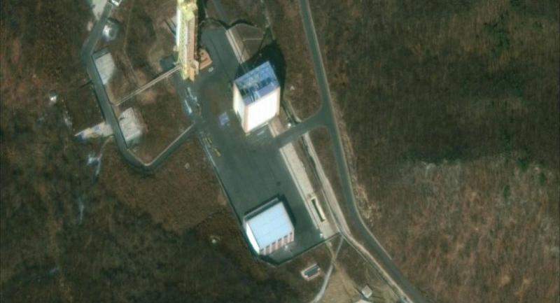 This satellite image provided by 2019 DigitalGlobe, a Maxar company, shows the Sohae Satellite Launching Station in North Korea, on March 2, 2019./AFP