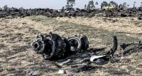 This picture taken on March 11, 2019, shows debris of the crashed airplane of Ethiopia Airlines, near Bishoftu, a town some 60 kilometres southeast of Addis Ababa, Ethiopia. // AFP PHOTO
