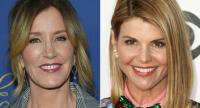 This combination of pictures shows US actress Felicity Huffman(L) and actress Lori Loughlin.//AFP