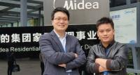 Henry Cheng, left, Midea Group's general manager of AC Product Division/Asean and Tony Liu, head of Air Conditioner Business unit of Toshiba/Thailand.