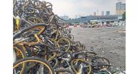 Some of the oBikes piled up at the DBKL depot in Cheras. — P. NATHAN/The Star