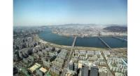 A view of Seoul from the Lotte World Tower in Jamsil, southeastern Seoul