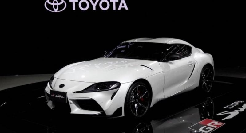 Toyota is showing its new Supra sports car at this year's Bangkok Motor Show.